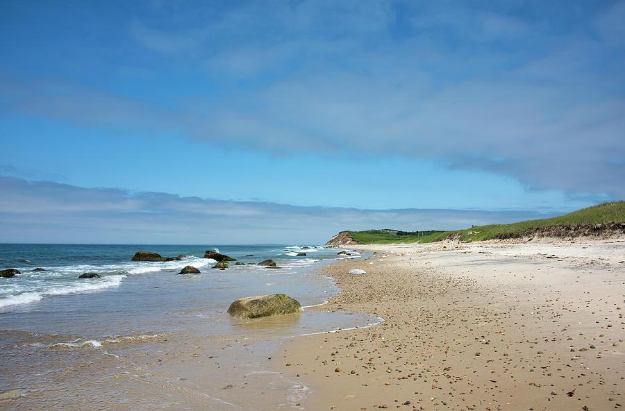 A Foggy Moshup Beach at Aquinnah, Marthas Vineyard
