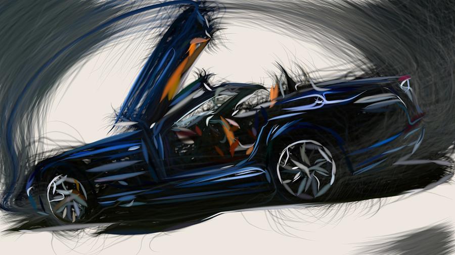 Mercedes Benz Slr Mclaren Roadster Draw By Carstoon Concept
