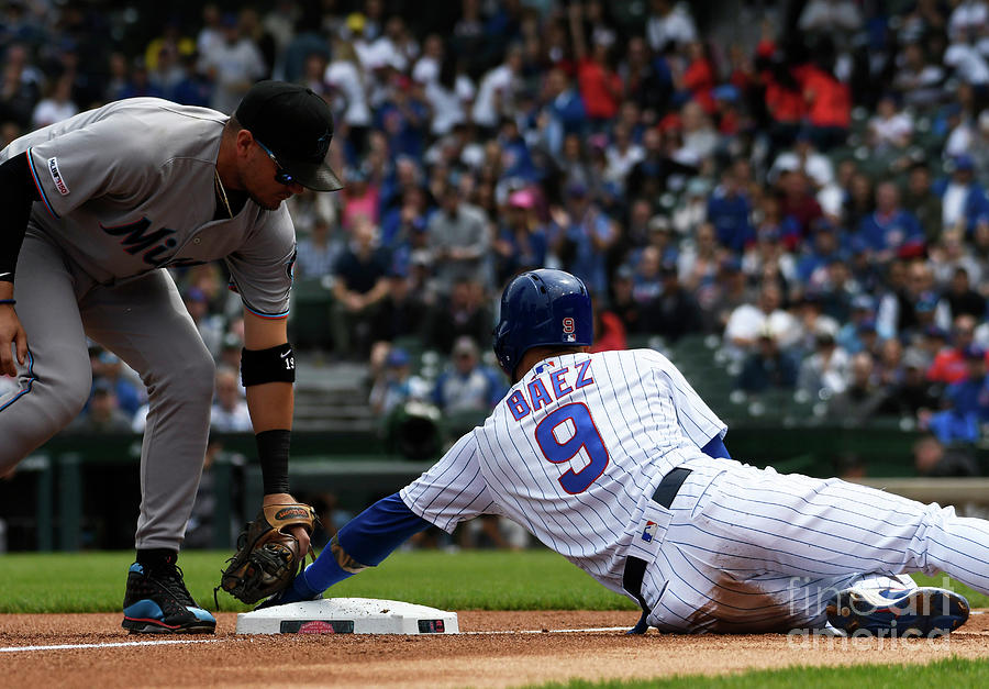Miami Marlins V Chicago Cubs Photograph by David Banks