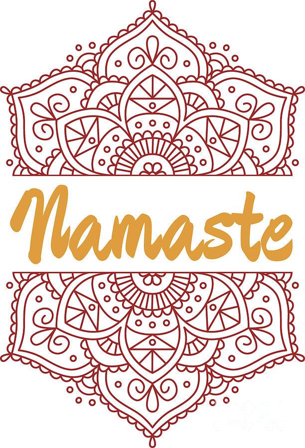 Namaste Lotus Flower Yoga Yoga Jogi Meditation Digital Art By Mister Tee