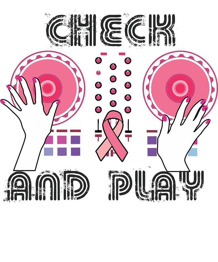 Cancer Digital Art - Naughty Breast Cancer Awareness Art For Women Light by Nikita Goel