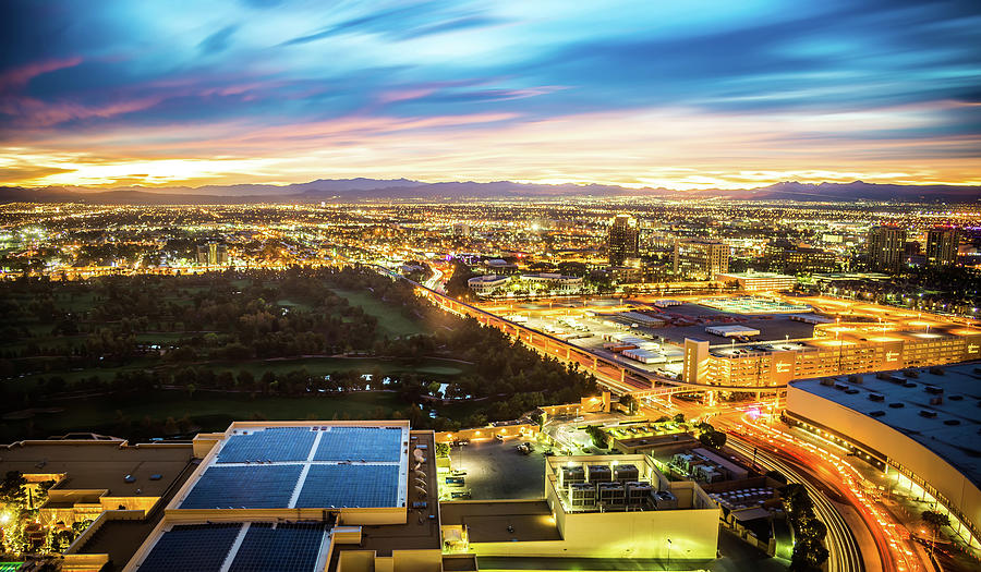night time to sunrise in las vegas by ALEX GRICHENKO