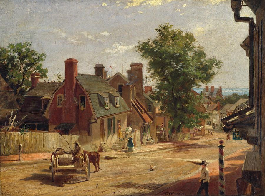 Trees Painting - Old Annapolis, Francis Street 4 by Francis Blackwell Mayer