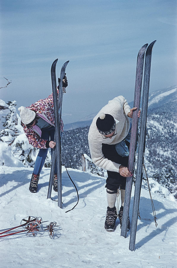 On The Slopes Of Sugarbush Photograph by Slim Aarons