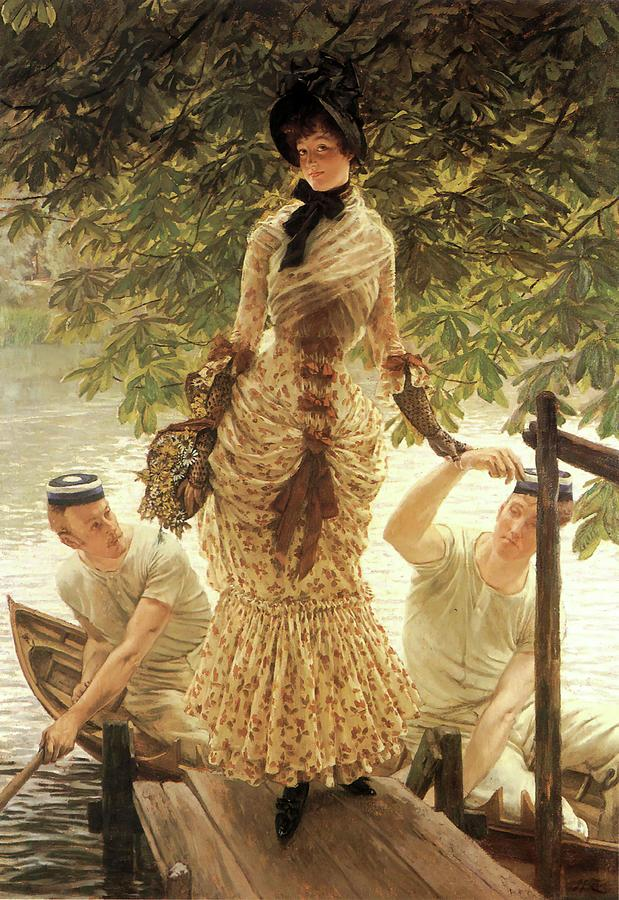 Painting Painting - On The Thames by James Tissot