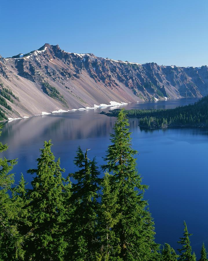 Alpine Photograph - Or, Crater Lake Np by John Barger