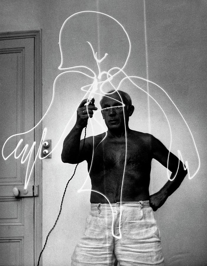 Pablo Picassopablo Picasso Misc Photograph by Gjon Mili