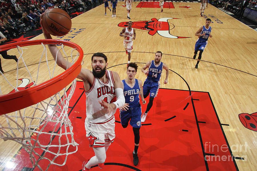 Philadelphia 76ers V Chicago Bulls Photograph by Gary Dineen