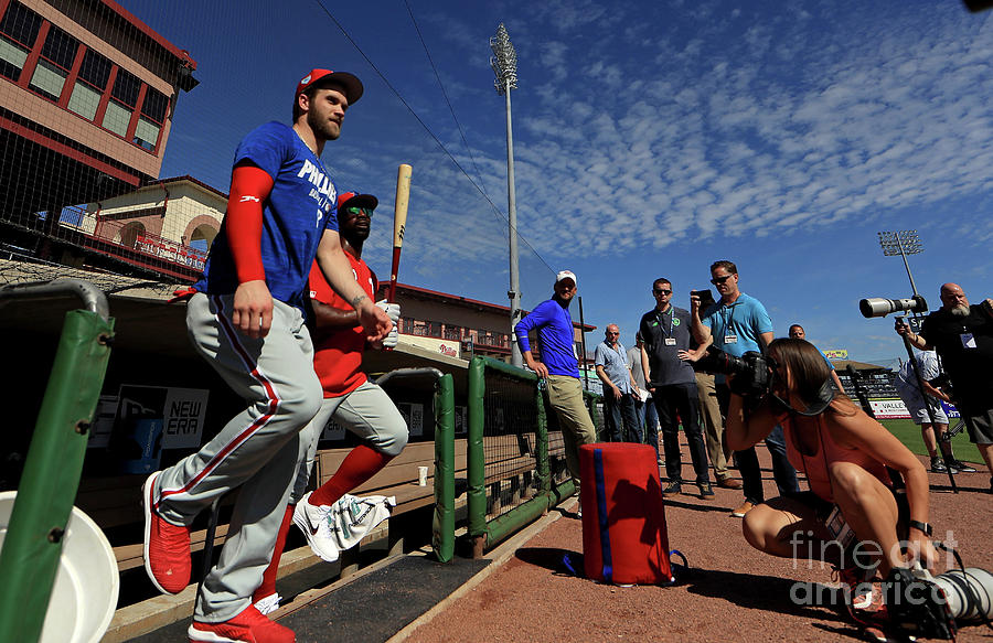Philadelphia Phillies Bryce Harper Photograph by Mike Ehrmann