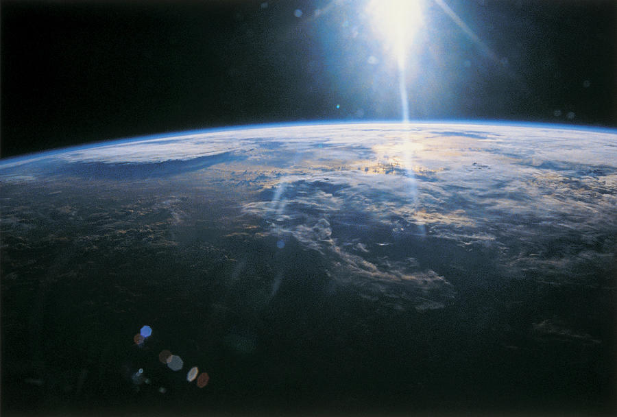 Globe Photograph - Planet Earth Viewed From Space by Stockbyte