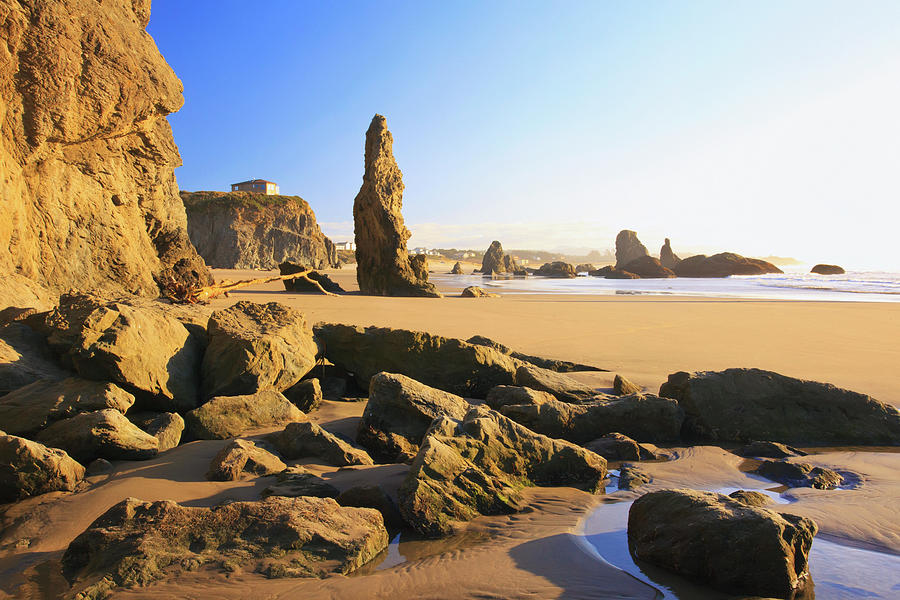 Rock Formations At Low Tide On Bandon Photograph by Craig Tuttle / Design Pics
