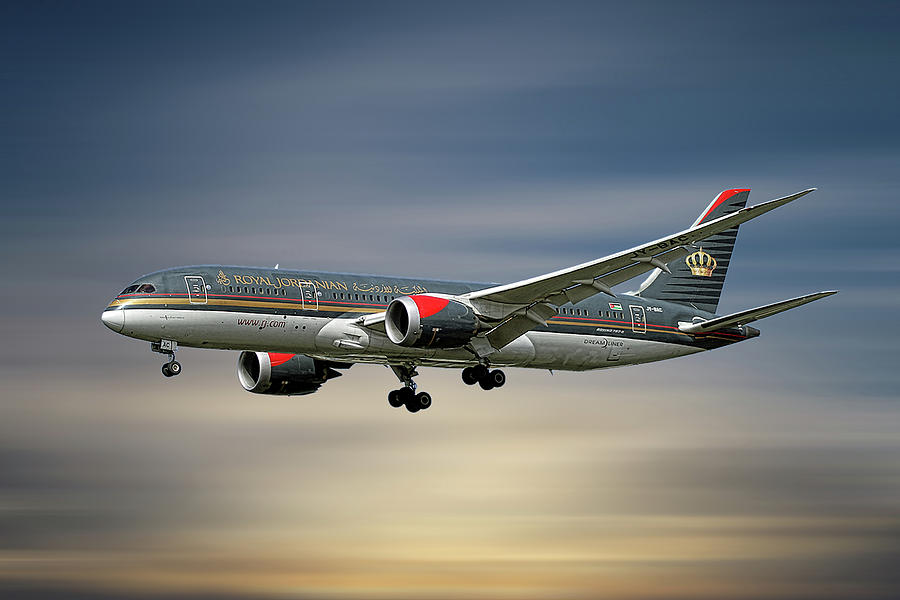 Royal Jordanian Mixed Media - Royal Jordanian Boeing 787-8 Dreamliner by Smart Aviation