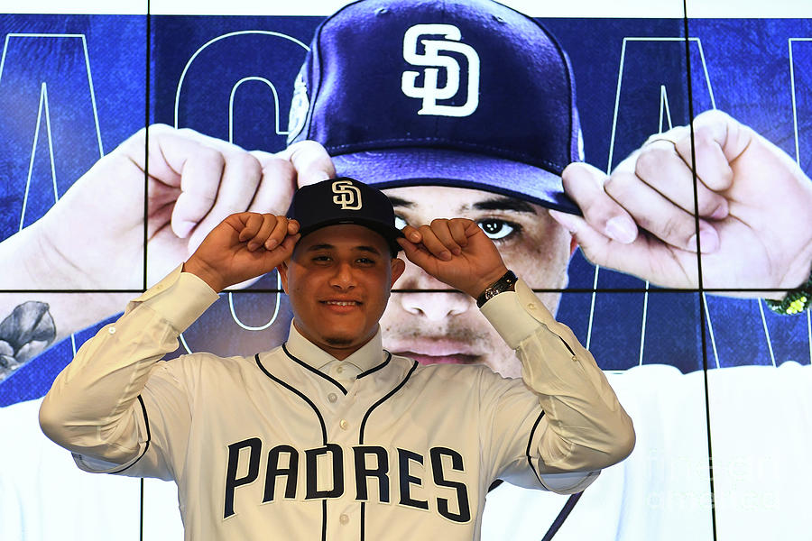 San Diego Padres Introduce Manny Machado Photograph by Jennifer Stewart