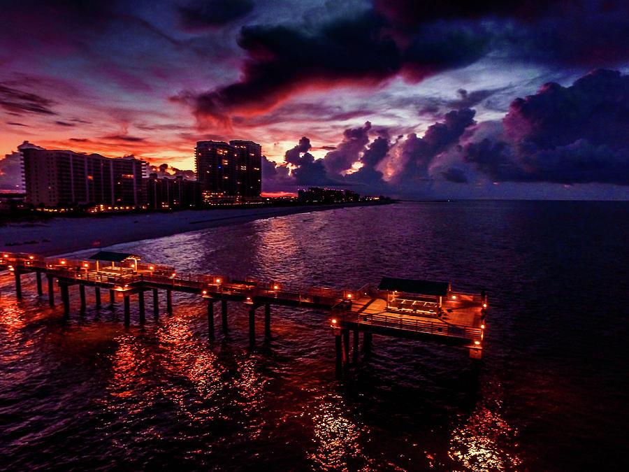 4 Season Pier Sunrise by Michael Thomas