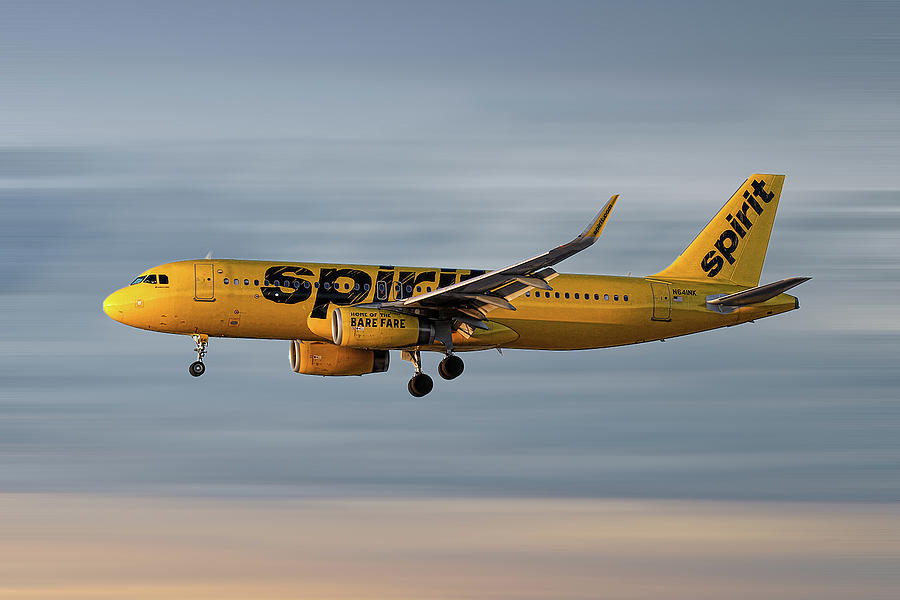 Spirit Airlines Mixed Media - Spirit Airlines Airbus A320-232 by Smart Aviation