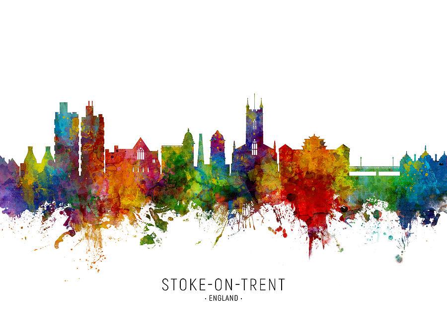 Stoke-on-Trent England Skyline by Michael Tompsett