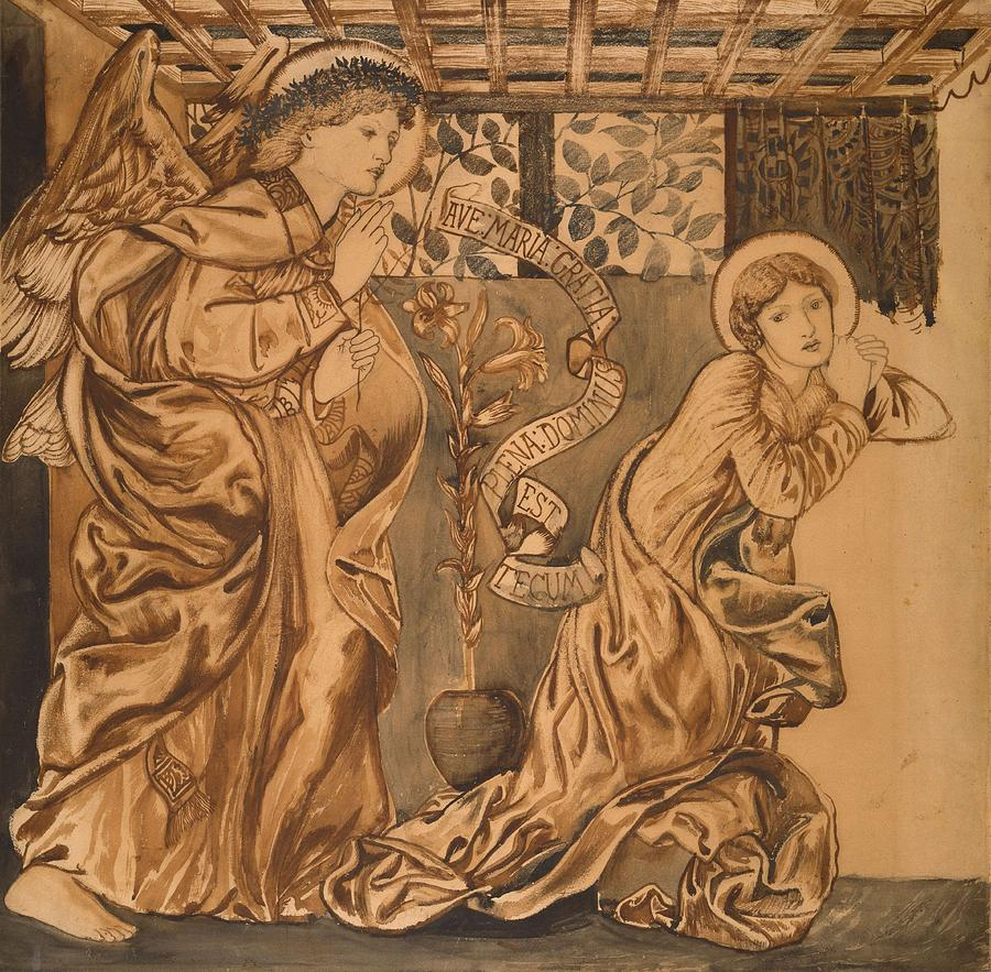The Annunciation Painting - The Annunciation by Edward Burne-Jones