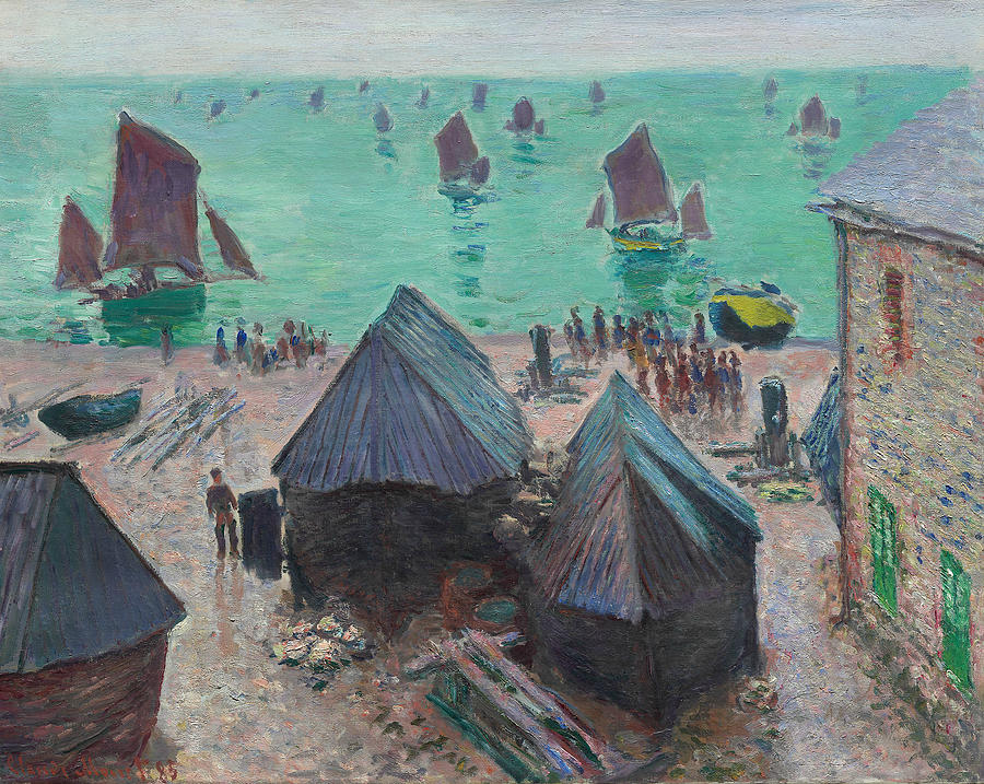 The Departure of the Boats, Etretat by Claude Monet