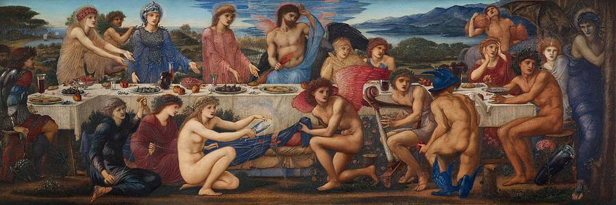 Feast Painting - The Feast Of Peleus by Edward Burne-Jones