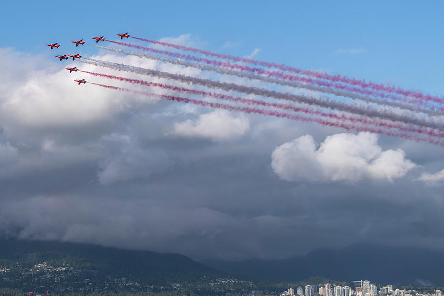 The RAF Red Arrows by Ross G Strachan
