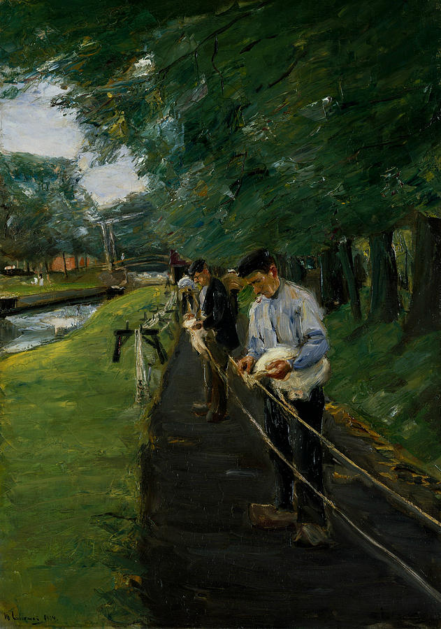 Impressionism Painting - The Ropewalk In Edam by Max Liebermann