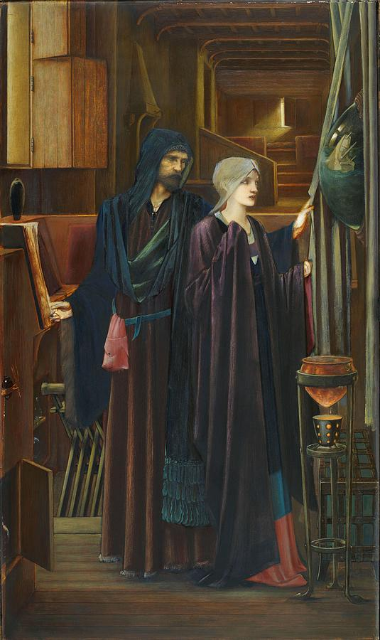 The Wizard Painting - The Wizard by Edward Burne-Jones