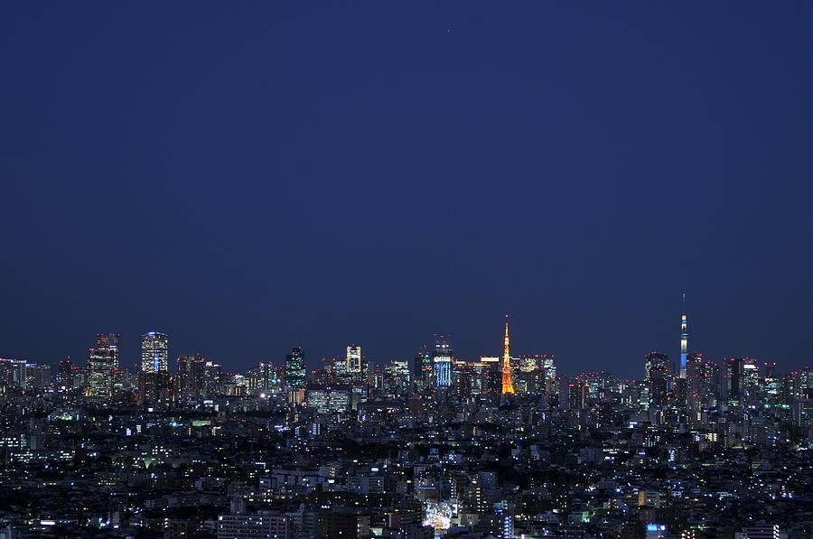 Tokyo Tower And Tokyo Skytree Photograph by Masakazu Ejiri