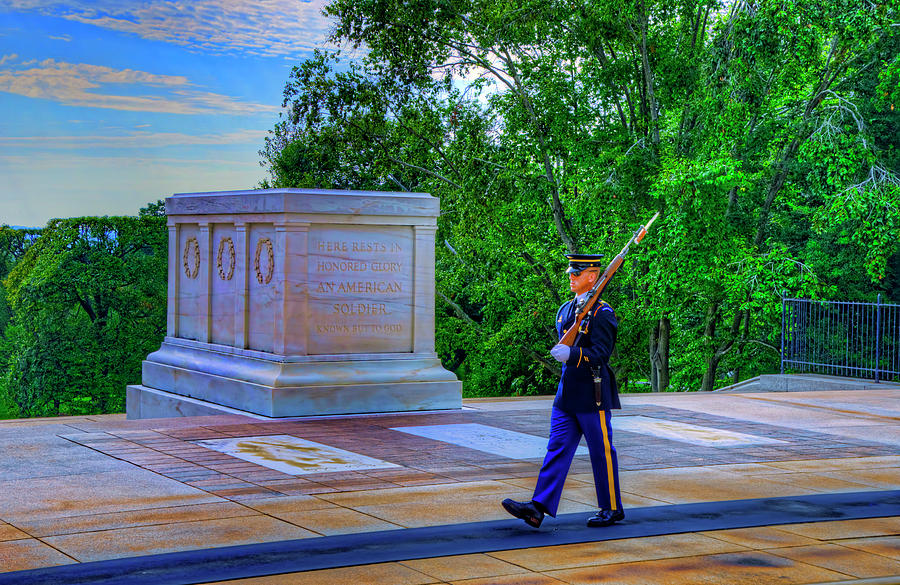 Department Of The Army Photograph - Tomb Of The Unknown Soldier by Craig Fildes