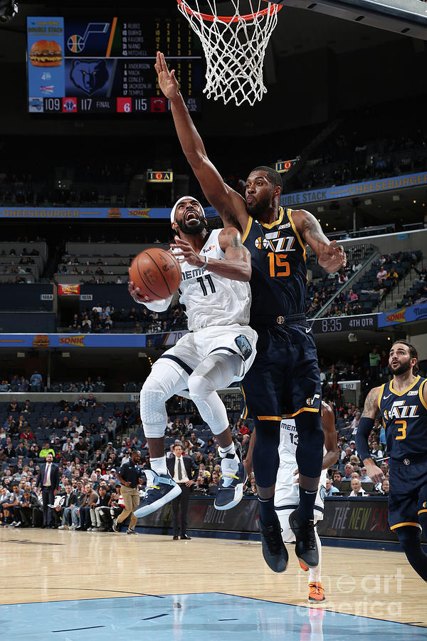 Utah Jazz V Memphis Grizzlies Photograph by Joe Murphy