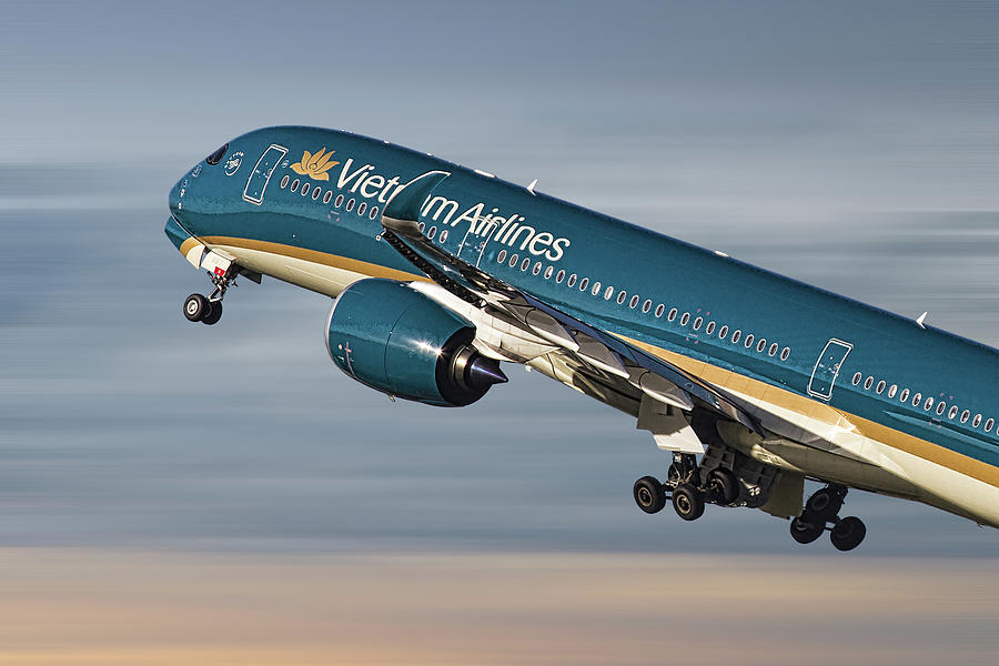 Vietnam Mixed Media - Vietnam Airlines Airbus A350 by Smart Aviation