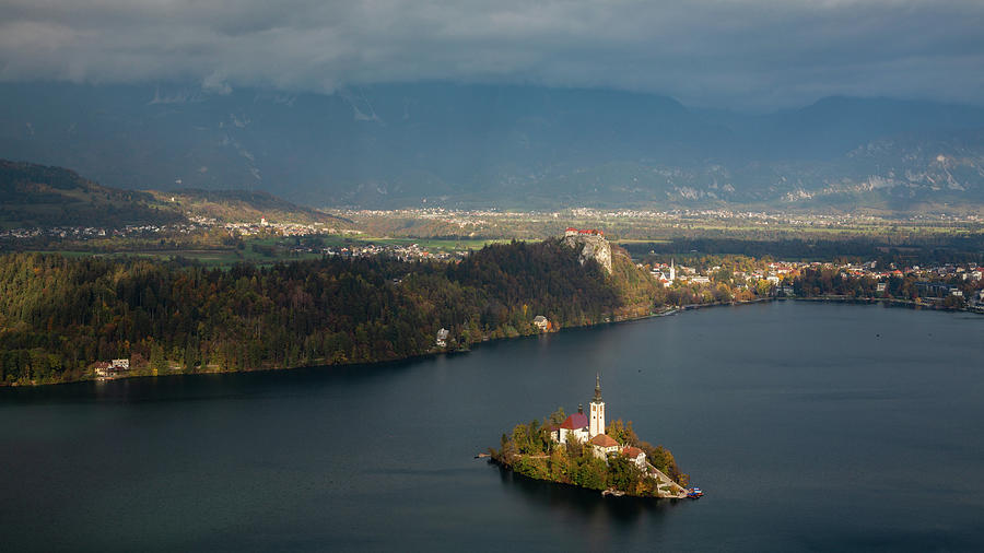 View of Lake Bled from Mala Osojnica by Ian Middleton