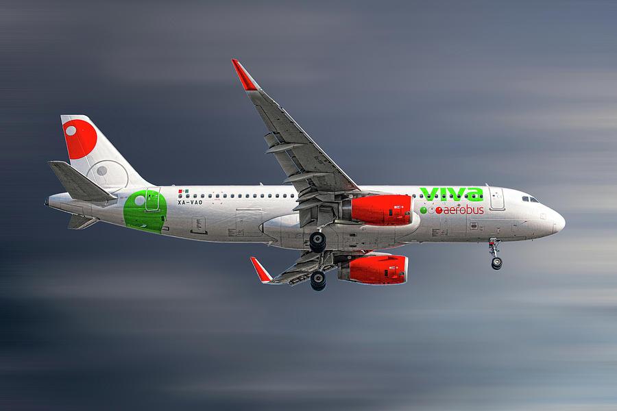 Airbus Mixed Media - Vivaaerobus Airbus A320-232 by Smart Aviation