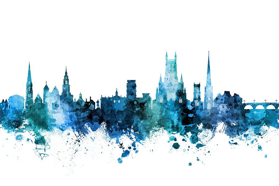 Worcester England Skyline by Michael Tompsett