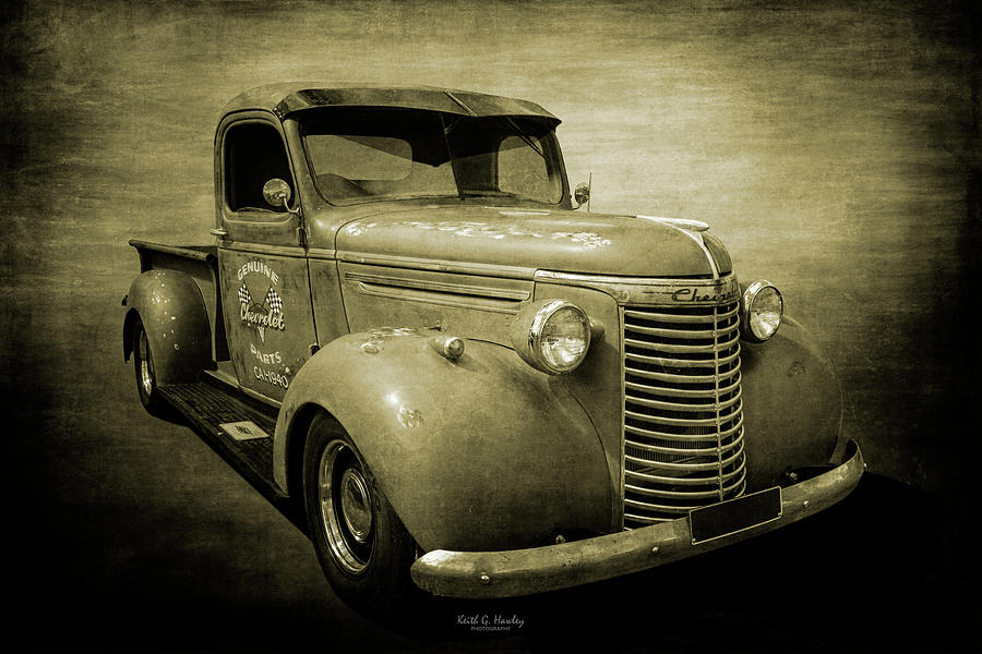 40 Chevy Pickup in Sepia by Keith Hawley