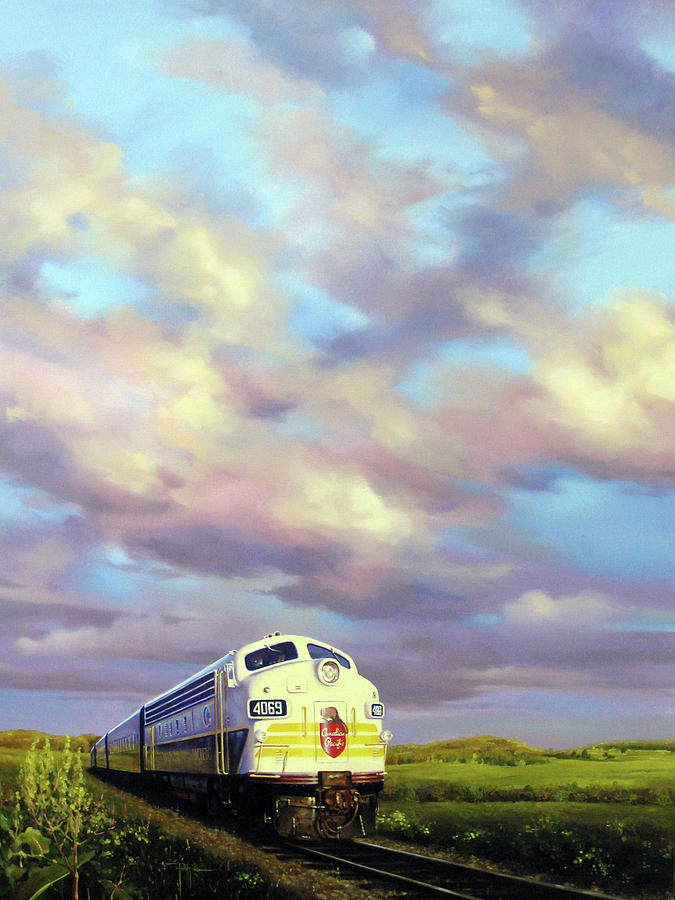 Train Painting - 4069 4069 by Dianna Ponting