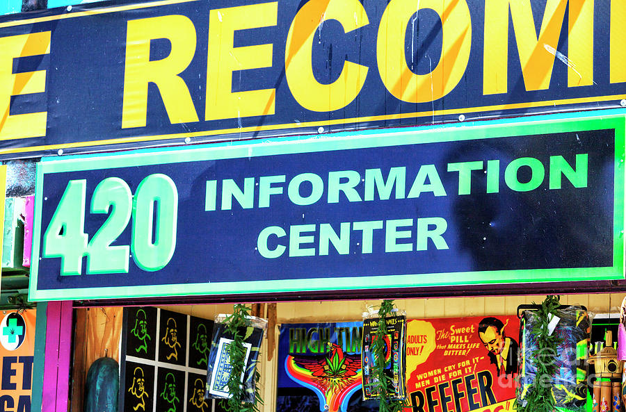 420 Information Center Venice Beach by John Rizzuto