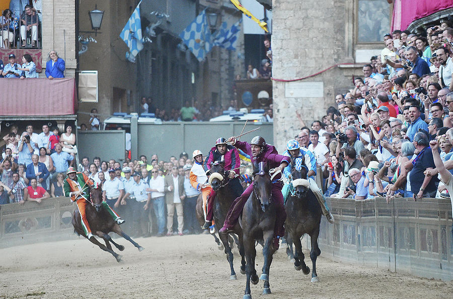 Palio Di Siena Horse Race Photograph by Ronald C. Modra/sports Imagery
