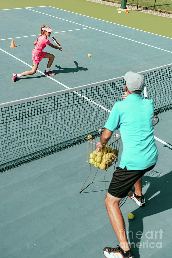 Tennis Photograph - Tennis Training by Microgen Images/science Photo Library