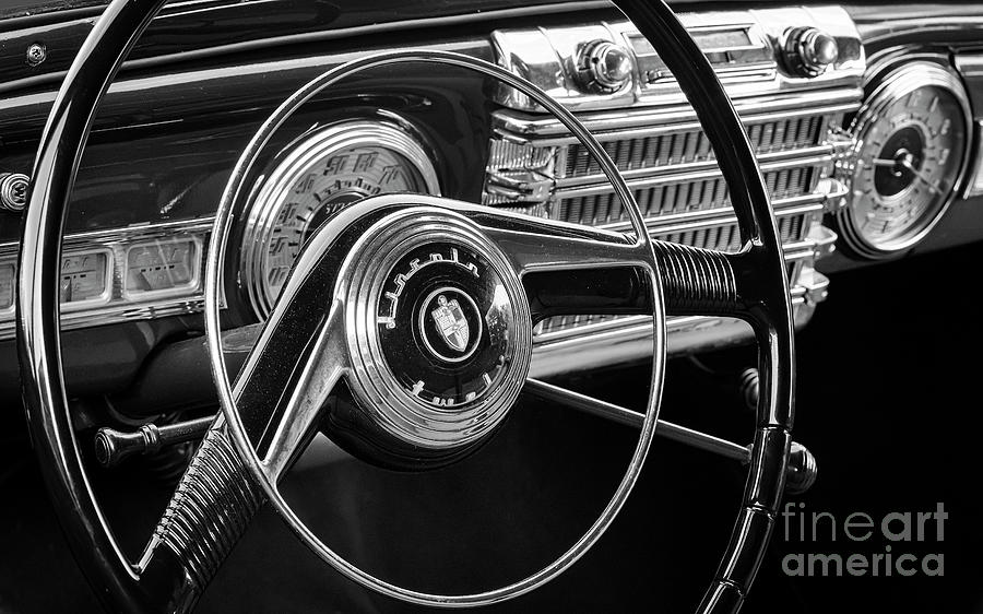 Lincoln Photograph - 47 Lincoln Continental Steering And Dash 47 by Dennis Hedberg