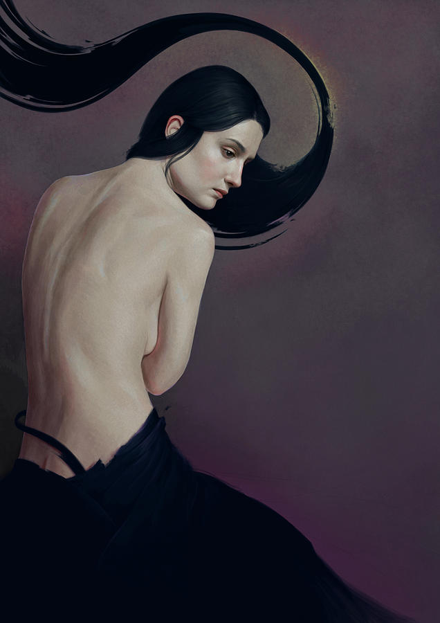 Woman Painting - 483 by Diego Fernandez