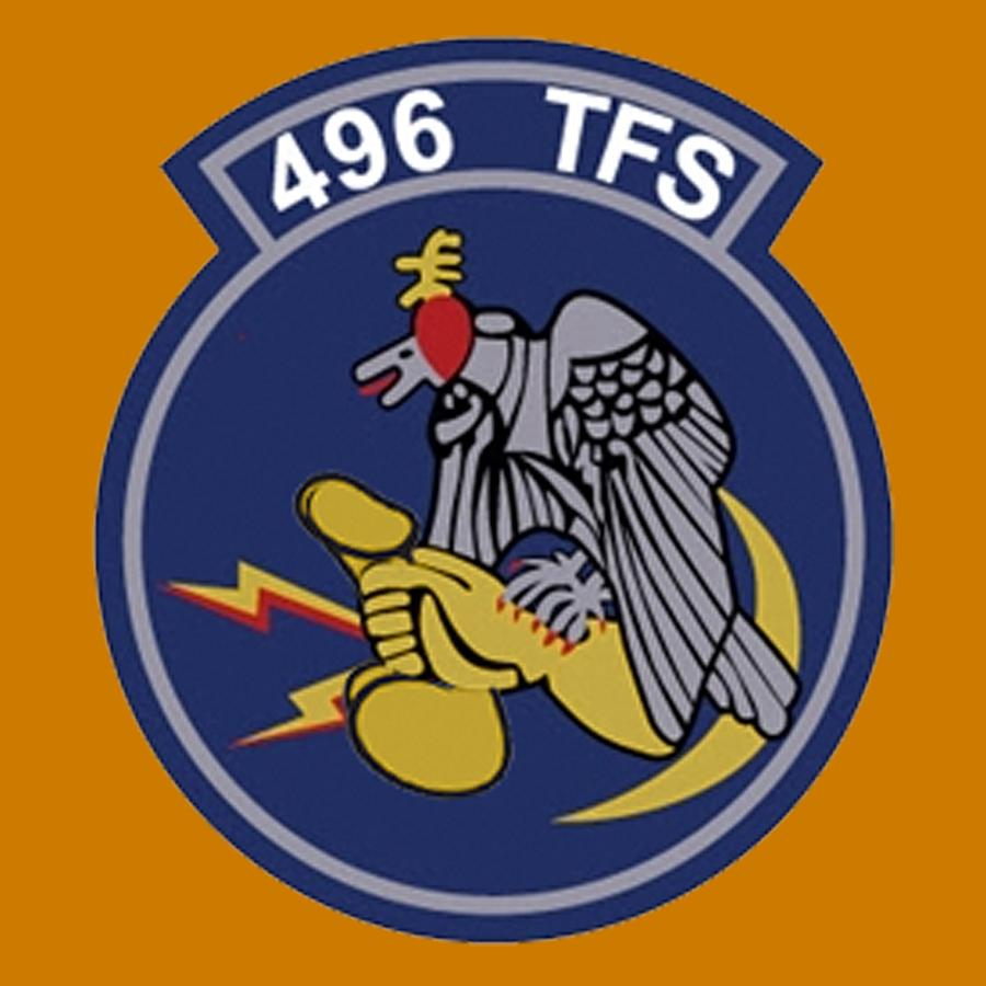 Usaf Digital Art - 496th Tactical Fighter Squadron  by Walter Chamberlain
