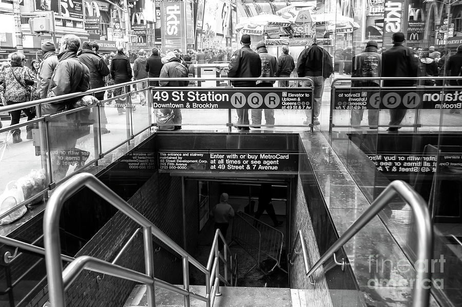 Subway Station Photograph - 49th Street Subway Station New York City by John Rizzuto