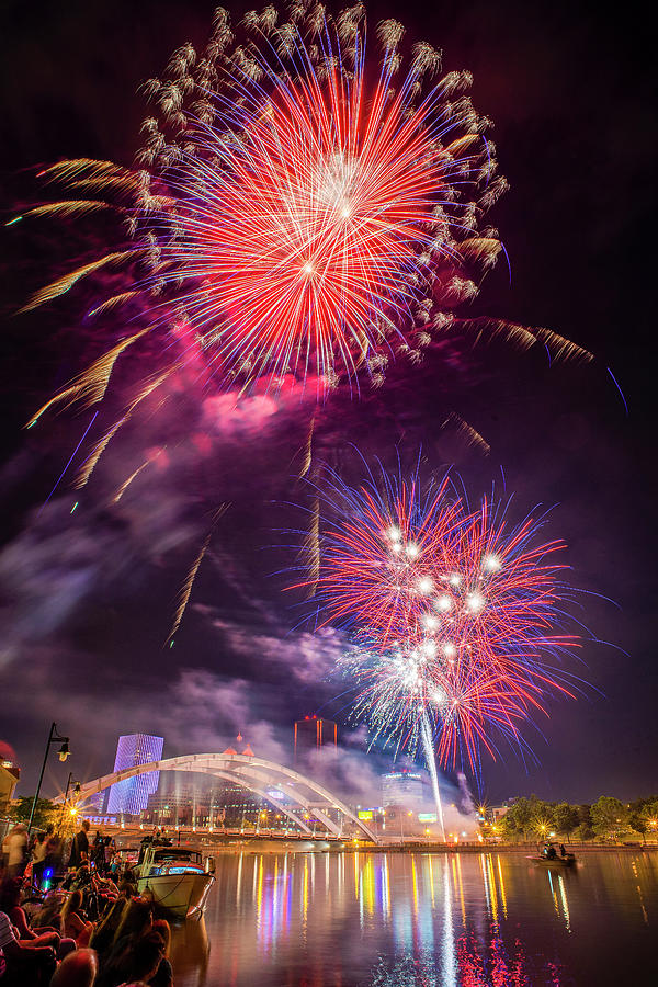 4th Of July Over Rochester Ny by Mark Papke