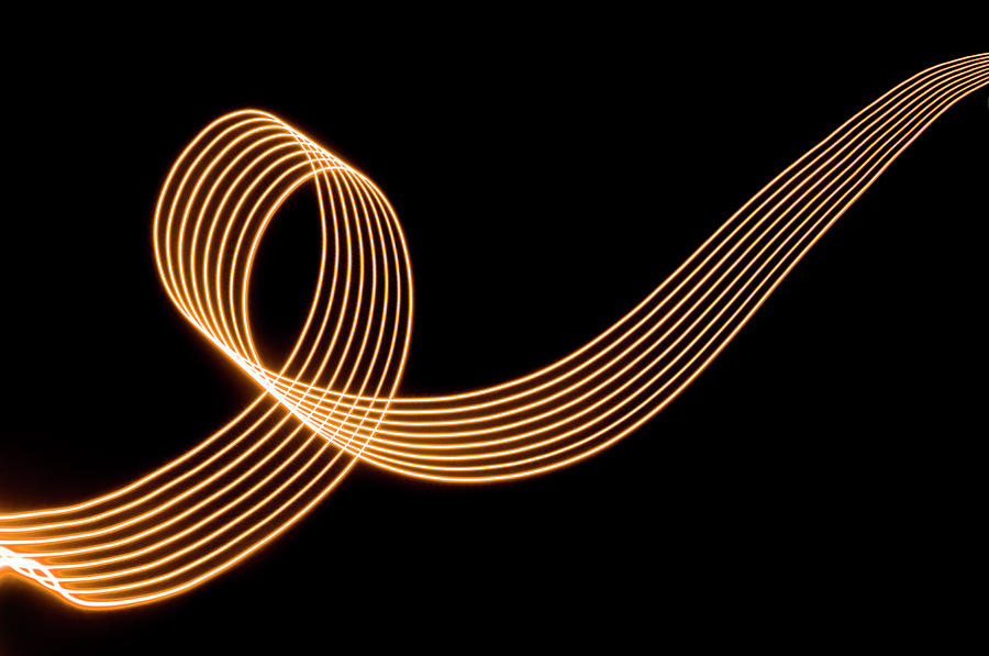 Abstract Colored Light Trails With Photograph by John Rensten