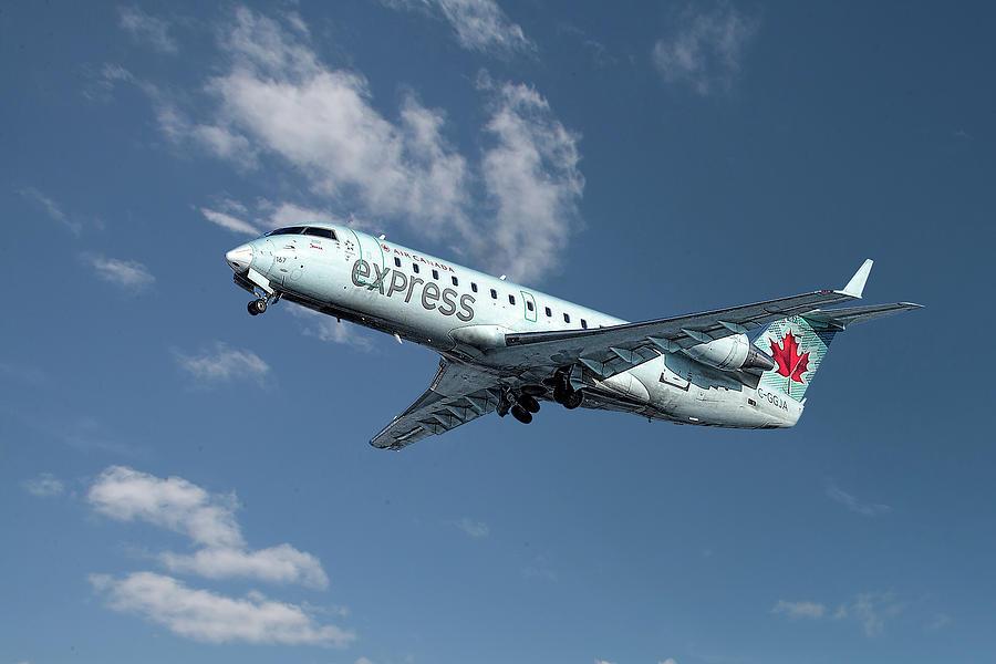 Air Canada Express Mixed Media - Air Canada Express Bombardier Crj-200er by Smart Aviation