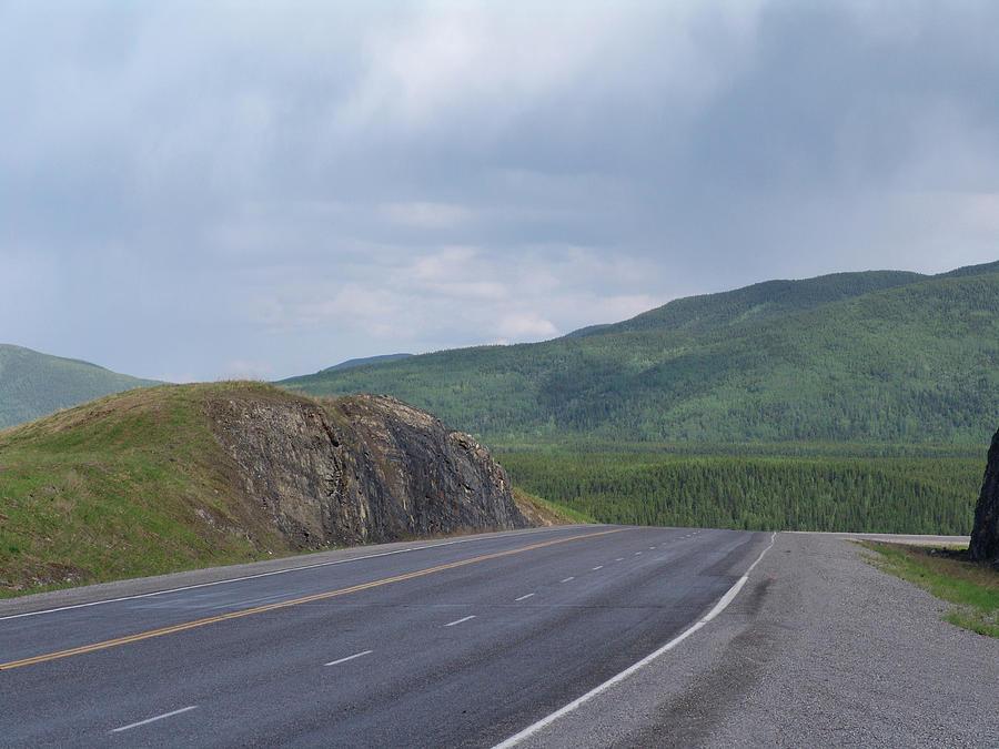 Alaska Highway British Columbia Canada by Robert Braley