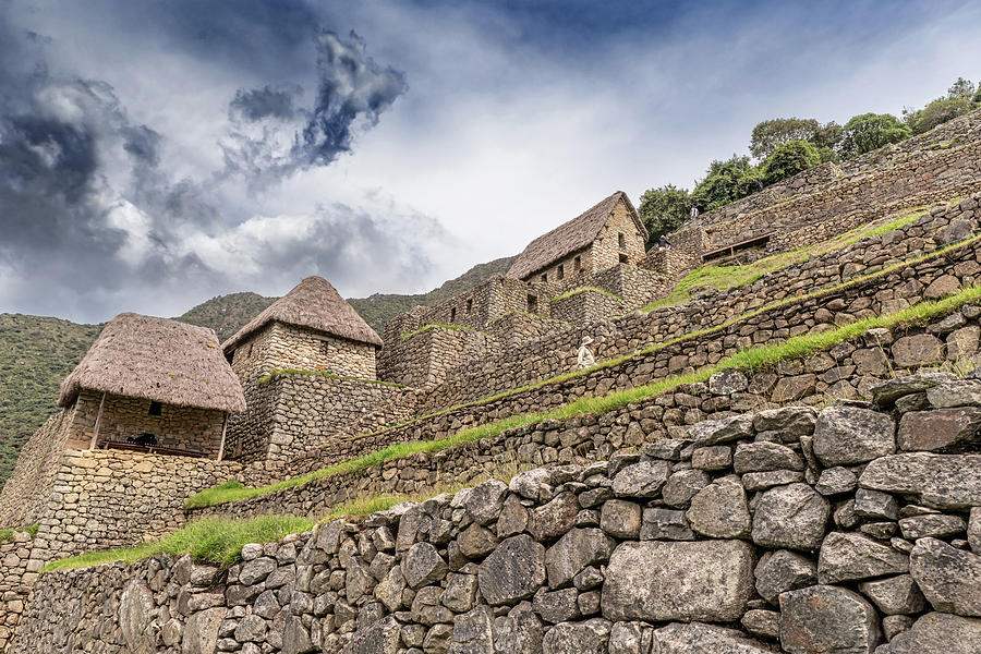 Ancient Incas City Of Machu Picchu In Peru. Photograph