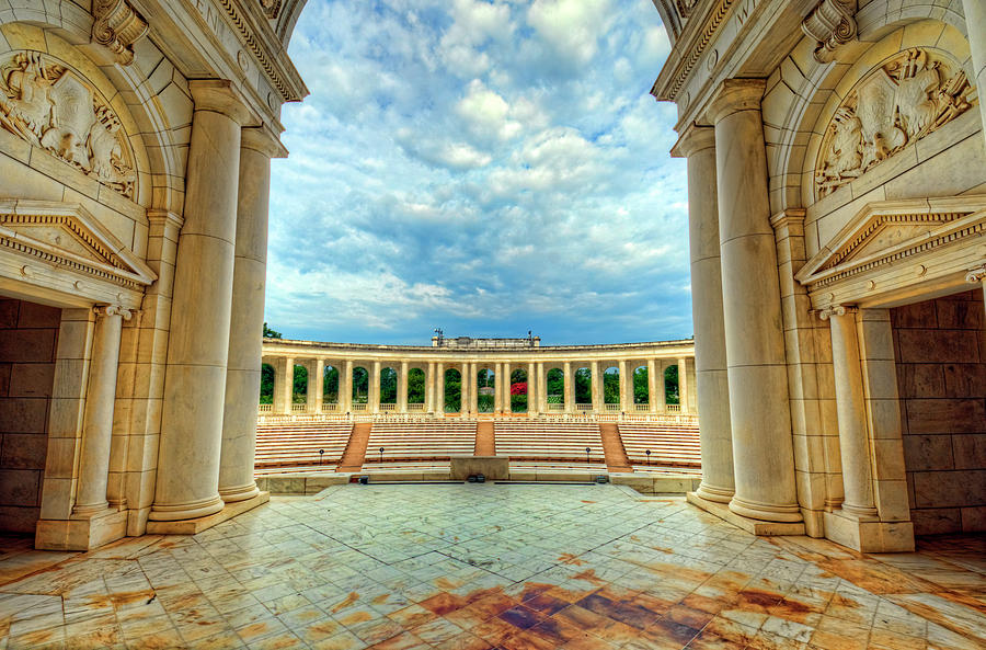 Department Of The Army Photograph - Arlington National Cemetery Memorial Amphitheater by Craig Fildes