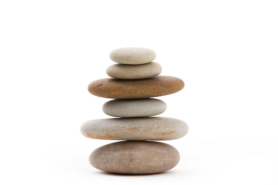Balancing Zen Stones Isolated Photograph By Artush Foto