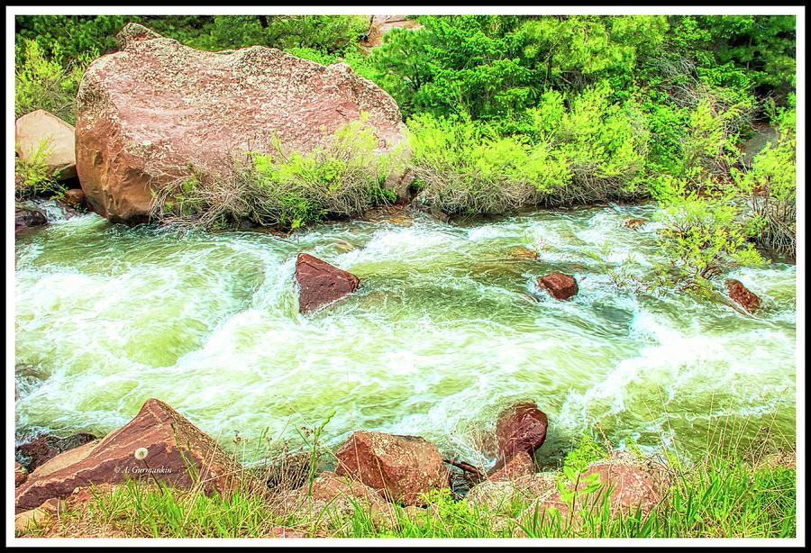 Big Thompson River, Colorado Rocky Mountains by A Gurmankin